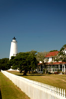 Ocracoke Light and Keepers Quarters